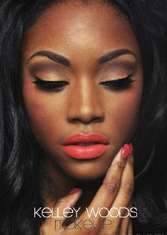 Dark brown skin makeup