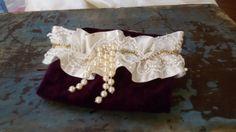 Wedding Garter SetBridal Garter SetOf White Lace by UniqueCeremony