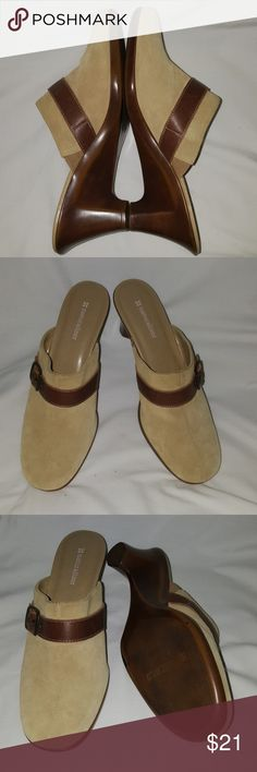 Naturalizer suede leather shoes Wonderful comfortable sweet with leather trim slide clogs  Perfect condition Naturalizer Shoes Mules & Clogs
