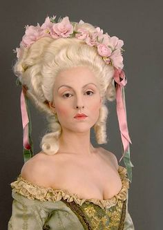marie antoinette hair - I would love to do something like this for a costume party!!