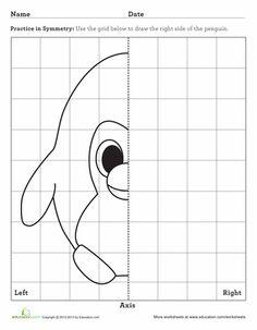 Los alumnos de primer curso de primaria tendrán que completar la otra mitad del dibujo fijándose en la mitad que ya hay dibujada.