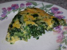 Crustless Spinach Cheese Pie Shared on https://www.facebook.com/LowCarbZen | #LowCarb #Spinach #Eggs
