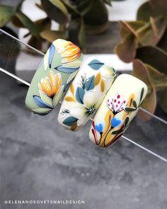 Spring Nails, Autumn Nails, Summer Nails, Toe Nail Art, Acrylic Nails, Floral Nail Art, Nailart, Flower Nails, Nail Stencils