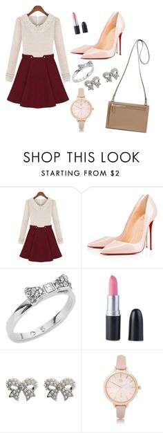 """nindya"" by novalikarida ❤ liked on Polyvore featuring Christian Louboutin, Kate Spade, M&Co and River Island"