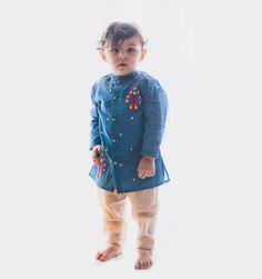 Baby Party Wear Dress, Baby Boys, Ethnic Wear For Boys, Peacock Baby, Boys Kurta, Indian Wedding Wear, Designer Kids Clothes, Baby Boy Fashion, Boy Blue
