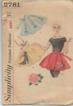 Simplicity 2781 from 1958 1 Yard Apron Pattern