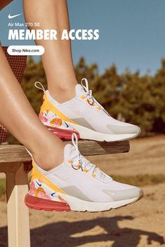 Foot-hugging comfort with a bright pop of floral—meet your most stylish summer sneaker. Summer Sneakers, Shoes Sneakers, Shoes Heels, High Heels, Shoes Men, Cute Shoes, Me Too Shoes, Sneaker Store, Baskets