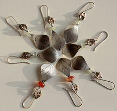 Spring........ sterling silver copper carnelian bird poppy