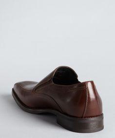 Robert Wayne dark brown leather 'Lexington' gusset side loafers | BLUEFLY up to 70% off designer brands