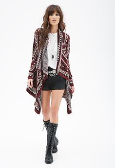 Diamond Pattern Cardigan | FOREVER21 - 2000099978
