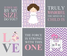 Star Wars Digital Prints for girl's nursery or by LulusAndLilys