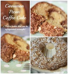 Cinnamon Pecan Coffee Cake, Overnight Coffee Cake recipe — Balancing Beauty and Bedlam Köstliche Desserts, Delicious Desserts, Yummy Food, Breakfast Cake, Breakfast Dishes, Breakfast Recipes, Baking Recipes, Cake Recipes, Dessert Recipes
