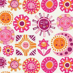 Sun Wallpaper from Jonathan Adler, i think one wall papered with this would be perfect.