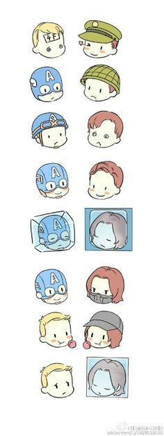 Cap and Bucky.