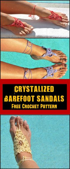 Crochet Barefoot Sandals - 50+ Free Crochet Patterns - Page 6 of 10 - DIY & Crafts