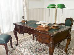 Ufficio Stile Provenzale : Poltrona per ufficio stile inglese legno massello colore noce con