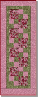 ZEN ROSE precut table runner quilt kit Not these colors, but I like the pattern! (Looks pretty simple!)
