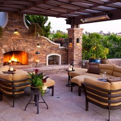 mediterranean patio by R Johnston Interiors