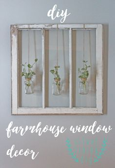 Have a ton of old barn windows hanging around your house? Follow this simple tutorial to make your own farmhouse window decor from Silver Lining DIY!
