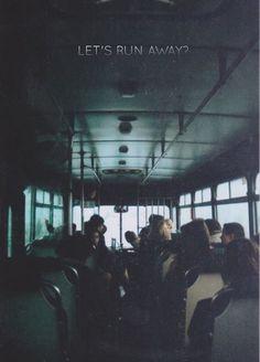 Runaways photography bus vintage teenagers