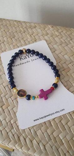 Etsy Jewelry, Jewelry Shop, Handmade Jewelry, Handmade Items, Dainty Bracelets, Gemstone Bracelets, Gemstone Beads, Catholic Jewelry, Catholic Gifts