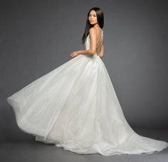 Lazaro Style 3851 Yesi Bridal Gown Front