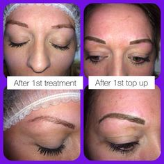 Semi permanent make up eyebrows top up