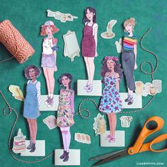 Stellar Sister Printable Paper Dolls | These free printable paper dolls come with an empowering message!