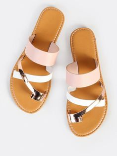 To find out about the Multi Toe Ring Sandals BLUSH MULTI at SHEIN, part of our latest Slippers ready to shop online today! Rose Gold Sandals, Toe Ring Sandals, Cute Sandals, Sport Sandals, Toe Rings, Cute Shoes, Women's Shoes, Me Too Shoes, Shoe Boots