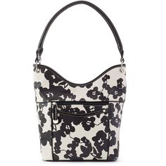 Croft & Barrow® Tip Top Hobo ($35) ❤ liked on Polyvore featuring bags, handbags, shoulder bags, bold blossom, faux leather shoulder bag, flower handbag, faux-leather handbags, vegan leather handbags and vegan handbags