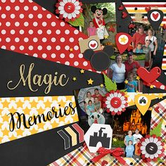 Magic Memories Kit: Magical Memories by The Digicrafter Template: Imagination Templates Vol 2 by Meagan's Creations