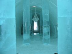 I am not sure just how I would integrate it but my true dream room would have an ice wing.  This is a picture of the Ice Hotel in Sweden