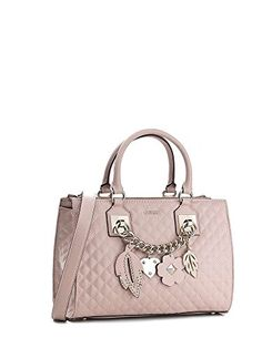 ea6f3710d64f GUESS Stassie Pink Society Satchel Cameo     Learn more by visiting the  image link. Handbags   Wallets