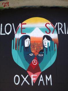 RT @Erica Cerulo Winkler: Love Syria Oxfam - new #graffiti Stokes Croft #Bristol @oxfamsouthwest pic.twitter.com/Tgy3mAWHGs
