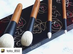 #Repost @toto_850 with @repostapp  I've been really enjoying these Koyudo Sakura tree set for a while now.  You read it correctly: the handles are made from real Sakura tree wood. That combined with very soft  saikoho goat hair makes this set absolutely exquisite.  Also available on @cdjapan_beauty (sold as a set or individually). Thanks to @fudejapan for the excellent service as usual.  #koyudo #luxuryjapanesebrush #kumanofude #fude #japanesebrushes #makeupbrushes #brushporn #makeupaddict…