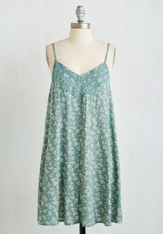 Weekend Wakeup Dress. Greet the weekend with a smile and sun salutation in this sage-green shift dress! #mint #modcloth