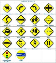 7 Ideas De Señales De Tránsito Señales De Transito Señales Preventivas Simbolos De Transito