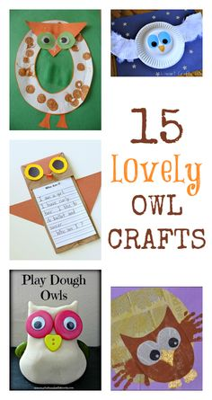Lovely Owl crafts for kids