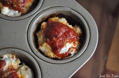 Mini Chicken Parmesan Meatloaf