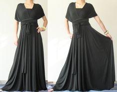 Convertible Wrap Dress Black Infinity Dress Maxi Dress/ Evening Plus Size Clothing Full Long Dress. $99.00, via Etsy.