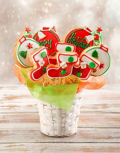 Spoil him with a delicious treat this festive season, send him this Happy Holiday cookie bouquet. Make it a 'holi-yay' this December with Christmas cookies! Christmas Gift For Your Boyfriend, Christmas Gifts For Him, Gifts For Your Boyfriend, Christmas Flowers, Christmas Decorations, Cookie Bouquet, Holiday Cookies, Happy Holidays, Gift Ideas