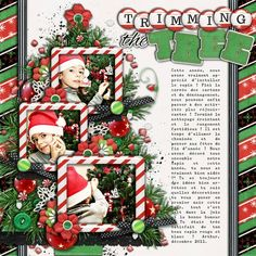 Trimming the Tree - I used the following from the Sweet Shoppe :    - Mistletoe Magic by Melissa Bennet & Amy Stoffel  - Cindy's Templates: Christmas Singles Bundled Set by Cindy Schneider  - Cindy's Layered Titles: Christmas - Set 1 by Cindy Schneider    Extra product from Peppermint Creative :    - Chilly Factor Elements by MissMint    Font is Underwood Champion.