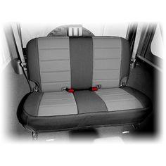 Neoprene Rear Seat Cover, Black/Gray; 07-16 Jeep Wrangler JK