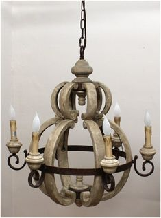 Wooden Chandelier Light Fixture Big Aged Round French Country Cottage Style - All For Decoration Wood And Metal Chandelier, White Chandelier, Chandelier In Living Room, Linear Chandelier, Contemporary Chandelier, Chandelier Shades, Chandelier Lighting, Chandeliers, French Country Lighting