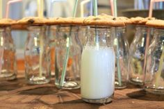 Milk and Cookies Luscombe Farms Rustic Barn, Party Party, Farms, Glass Of Milk, Cookies, Drinks, Food, Crack Crackers, Drinking