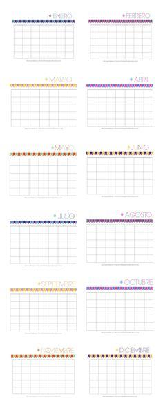 Calendarios Personalizables. Son lindos y sirven para cualquier año. #Printable #Calendars