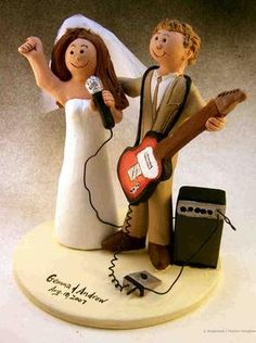 Rock and Roll Wedding Cake Topper
