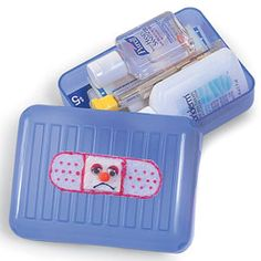 Soap Box First Aid Kits -- good towards earning the GS first-aid/safety pin #familyfun girl scout first aid kit, girl scout camp ideas, cub scouts, girl scouts camping ideas, girl scout camping crafts, first aid kits, girl scout brownies crafts, girl scout camp crafts, brownie girl scout crafts