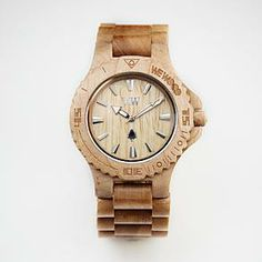 This is AMAZING! It's made of wood and for each watch that is sold the company plants a tree!