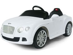 BENTLEY GTC 12V KIDS ELECTRIC RIDE-ON CAR BATTERY POWERED WHEELS WITH PARENTAL REMOTE | WHITE #BentleyContinentalGT